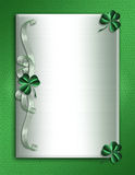 St Patrick's Day Border shamrocks royalty free stock images