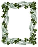 St Patrick's Day Border shamrocks royalty free stock image