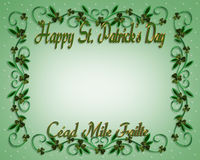 St Patrick's Day Border Shamrocks Stock Images