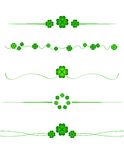St. Patrick's day borders Stock Images