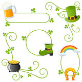 St. Patrick s Day Borders Royalty Free Stock Photos