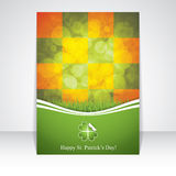 St. Patrick's Day brochure Royalty Free Stock Images