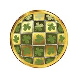 St. Patrick's day button Stock Photo