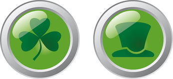 St. Patrick's Day Buttons Stock Photo