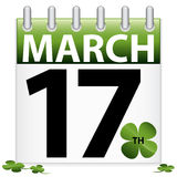 St. Patrick's Day Calendar Icon Stock Photos