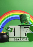 St Patrick's Day Calendar March 7 vertical. Royalty Free Stock Photography