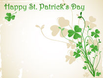 St patrick`s day card Royalty Free Stock Photo