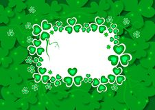 St. patrick's day card. St. patrick's day green card Royalty Free Stock Photography