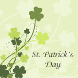 St Patrick's Day card. With shamrock leaves in green colors Royalty Free Stock Photo