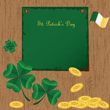 St Patrick's Day card Royalty Free Stock Image