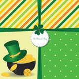 St Patrick's Day card Stock Photo