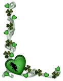 St Patrick's Day Card Border stock image