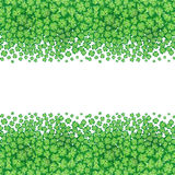 St. Patrick's day card, clover borders with hand - drawn floral ornaments on white background Royalty Free Stock Photo