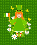 St. Patrick S Day Card Design Royalty Free Stock Photo