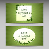 St Patrick`s day card design, vector banner. Royalty Free Stock Photos