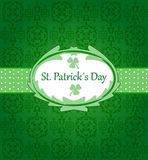 St patrick´s day. Card designed for st patrick´s day Stock Photos