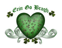 St Patrick's day card Erin go bragh stock photography