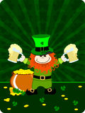 St.Patrick`s day card with leprechaun. Stock Images