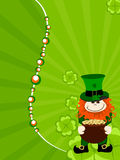 St.Patrick`s day card with leprechaun. Royalty Free Stock Photography
