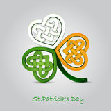 St. Patrick`s day card. With tricolor clover Stock Photography