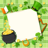 St. Patrick's day card. Vector eps-10. Stock Photos