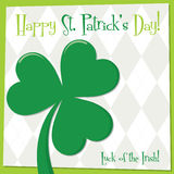 St. Patrick's Day card in vector format. Royalty Free Stock Photography