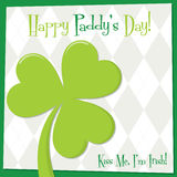 St. Patrick's Day card in vector format. Royalty Free Stock Image