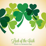 St. Patrick's Day card in vector format. Royalty Free Stock Photos