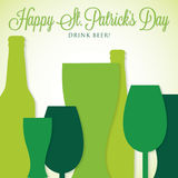 St. Patrick's Day card in vector format. Stock Images