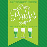 St. Patrick's Day card in vector format. Stock Image