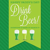 St. Patrick's Day card in vector format. Stock Photos
