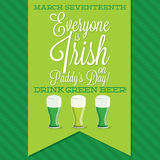 St. Patrick's Day card in vector format. Stock Photography