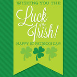 St. Patrick's Day card in vector format. Stock Photo