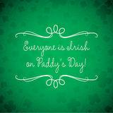 St. Patrick's Day card in vector format. Swirl typographic St. Patrick's Day card in vector format stock illustration