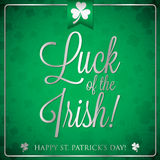 St. Patrick's Day card in vector format. Royalty Free Stock Photo