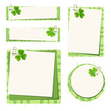 St. Patrick's day cards with shamrock and tartan. Vector eps-10. Royalty Free Stock Photos