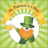 St. Patrick's Day Cartoon Vector Royalty Free Stock Photos