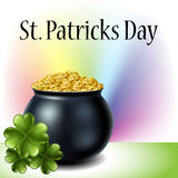 St Patricks day cauldron Stock Photography