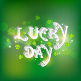 St. Patrick's Day celebration with 3D text. Royalty Free Stock Photos