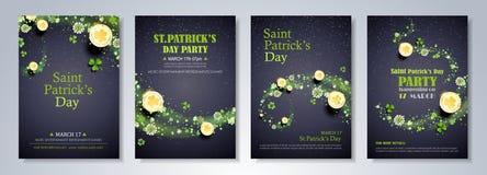 St. Patrick`s Day Celebration Flyer Stock Images