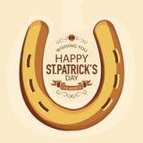 St. Patrick's Day celebration with horseshoe. Royalty Free Stock Images