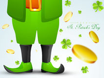 St. Patrick's Day celebration with Leprechaun. Royalty Free Stock Photography