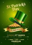 St. Patrick`s Day celebration template or flyer design. royalty free illustration
