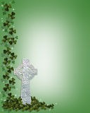 St Patrick's Day Celtic Cross Border royalty free stock photo