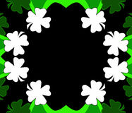 St. Patrick's Day Clover background Stock Images