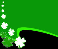 St. Patrick's Day Clover background Stock Photography