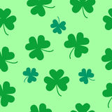 St Patrick's Day Clover seamless pattern. Royalty Free Stock Images