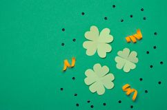 St. Patrick`s Day Concept, Celebration Greeting Card stock photos