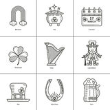 St. Patrick s Day contour icons Stock Photos