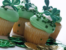 St. Patrick's Day Cupcake Royalty Free Stock Photography